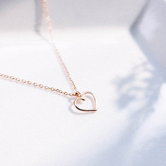 Line Heart Necklace