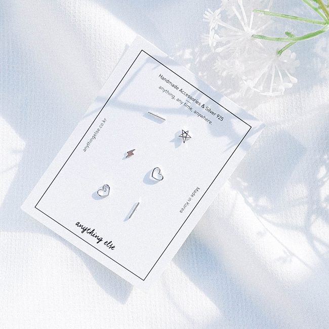 [4차 입고] My Wishes Silver Earring SET