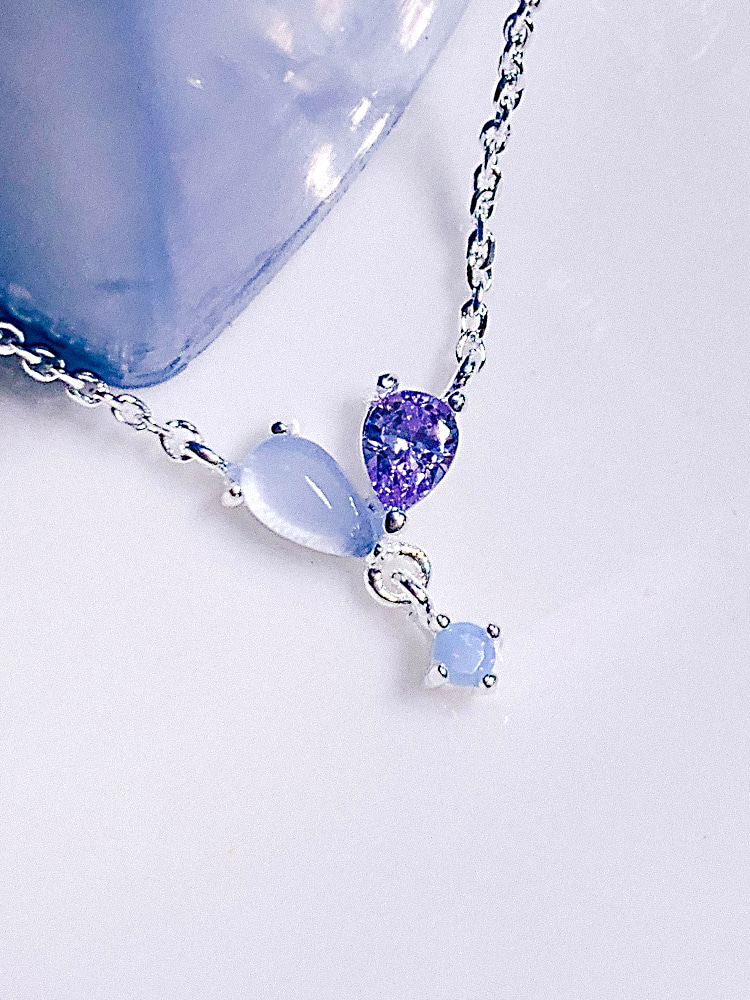 [BLUE] Focus on you Silver Necklace