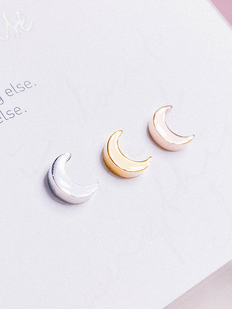 Crescent Moon Piercing/Earring