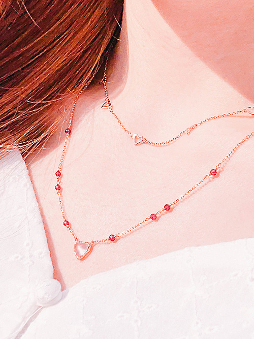 39. Love Adagio Silver Necklace [PINK]