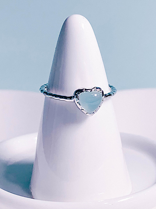 38.Love adagio Silver Ring [BLUE]