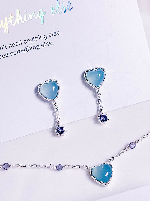 38.Love adagio Silver Earring [BLUE]