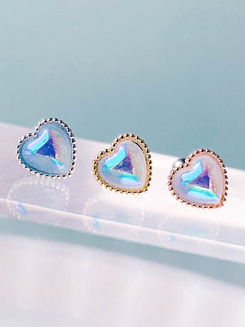 [AB-Blue] Pure Heart Piercing/Earring