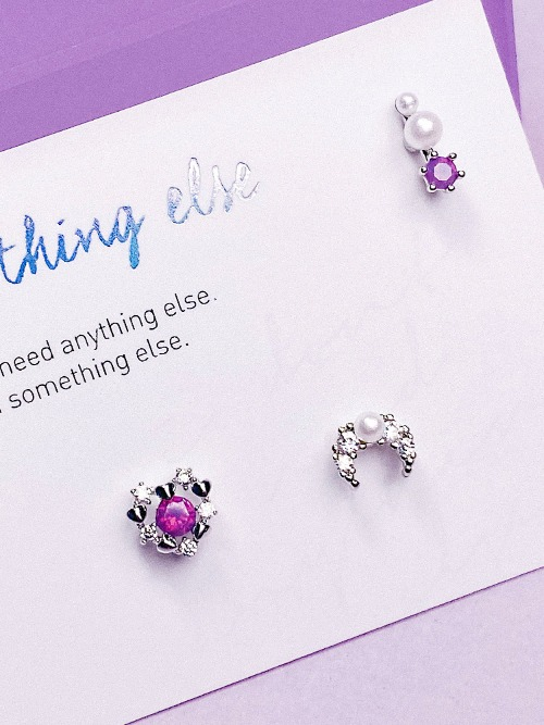 Romantic Moon Piercing/Earring SET