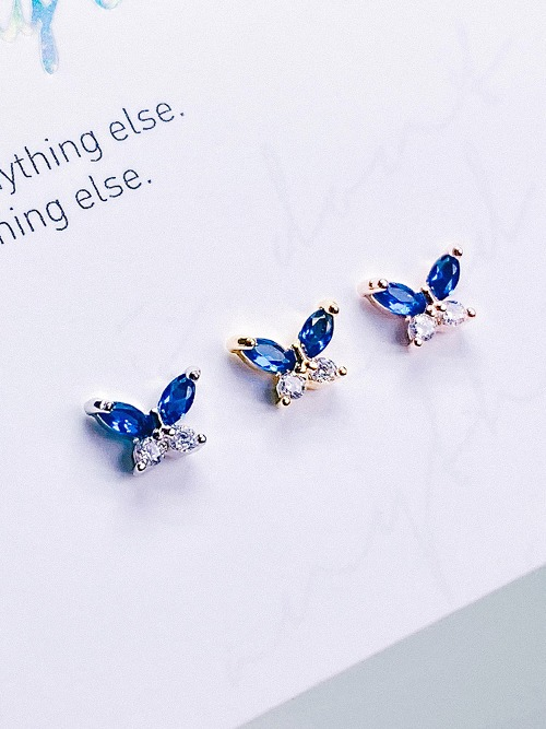 [BLUE] Butterfly Effect Piercing/Earring