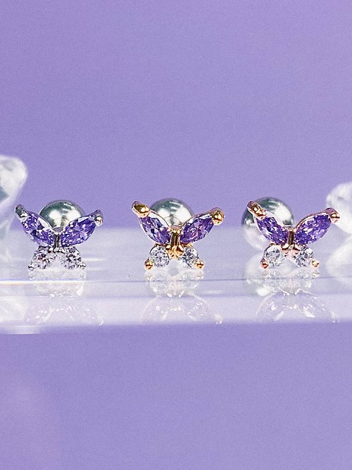 [VIOLET] Butterfly Effect Piercing/Earring