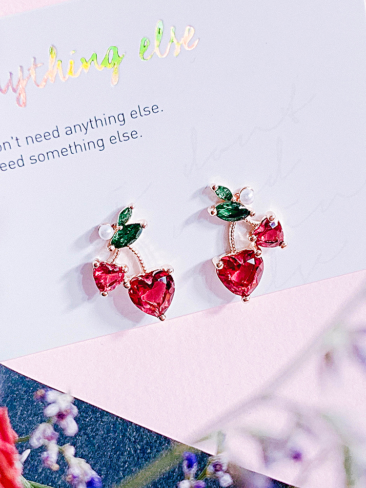 Ruby Cherry Earring
