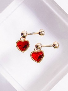 Solution of love Piercing / Earring [RED]