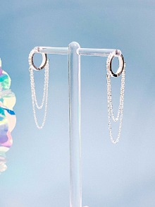 Step up Silver Earring