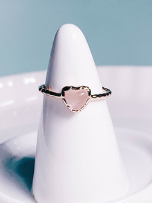 39.Love adagio Silver Ring [PINK]