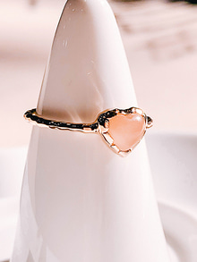 40.Love adagio Silver Ring [CORAL]