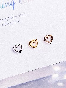 MINI Dot Heart Piercing/Earring