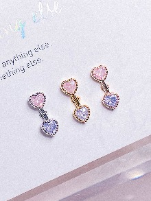 [PINK-VIOLET] Heart Hook! Piercing/Earring