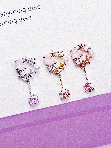 [PINK] Swing Piercing/Earring