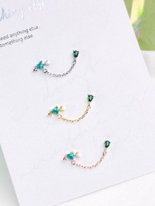 [GREEN] Love Knot Piercing/Earring