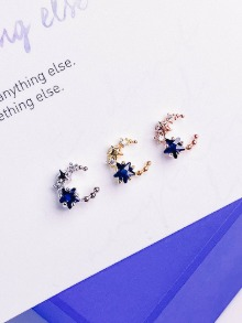 [BLUE] Moving Universe Piercing/Earring