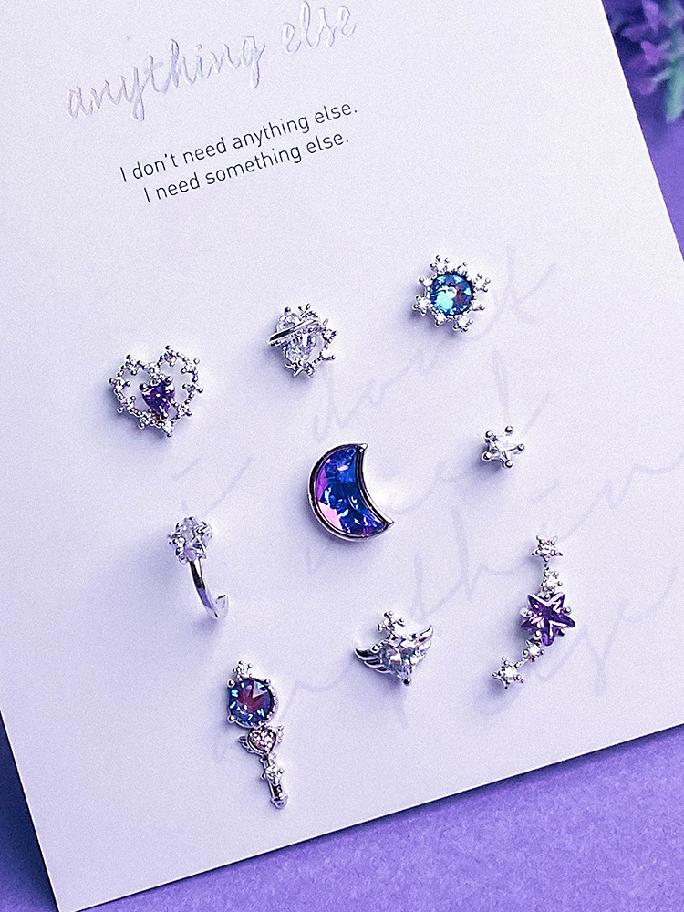 Draw Space Piercing/Earring SET