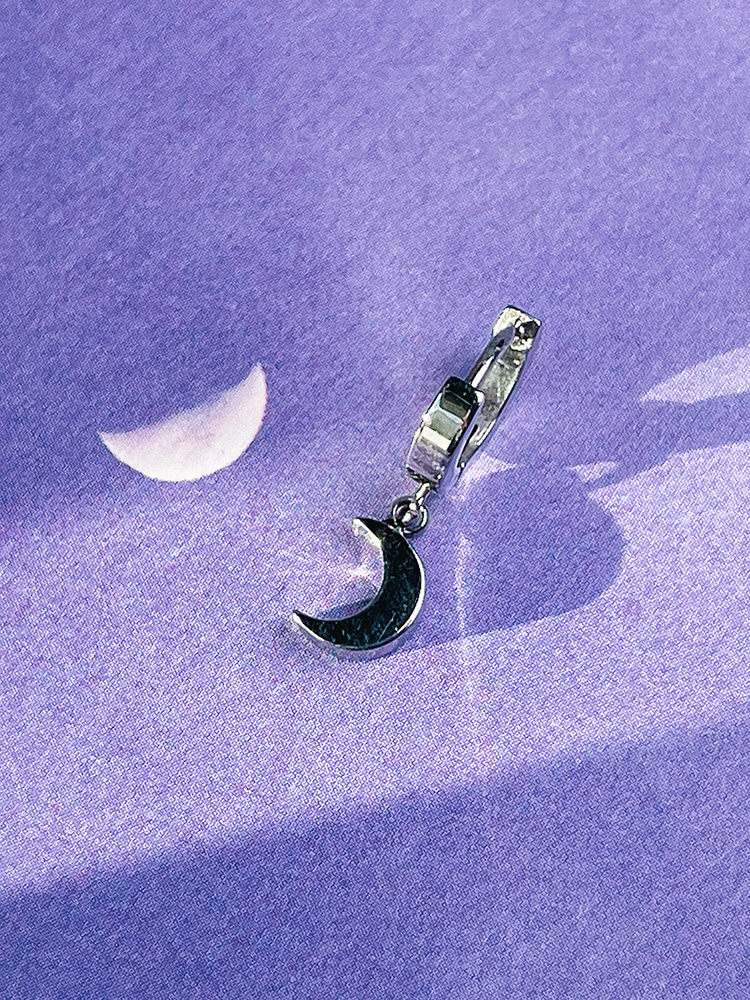 [Surgical] Call to the moon Earring