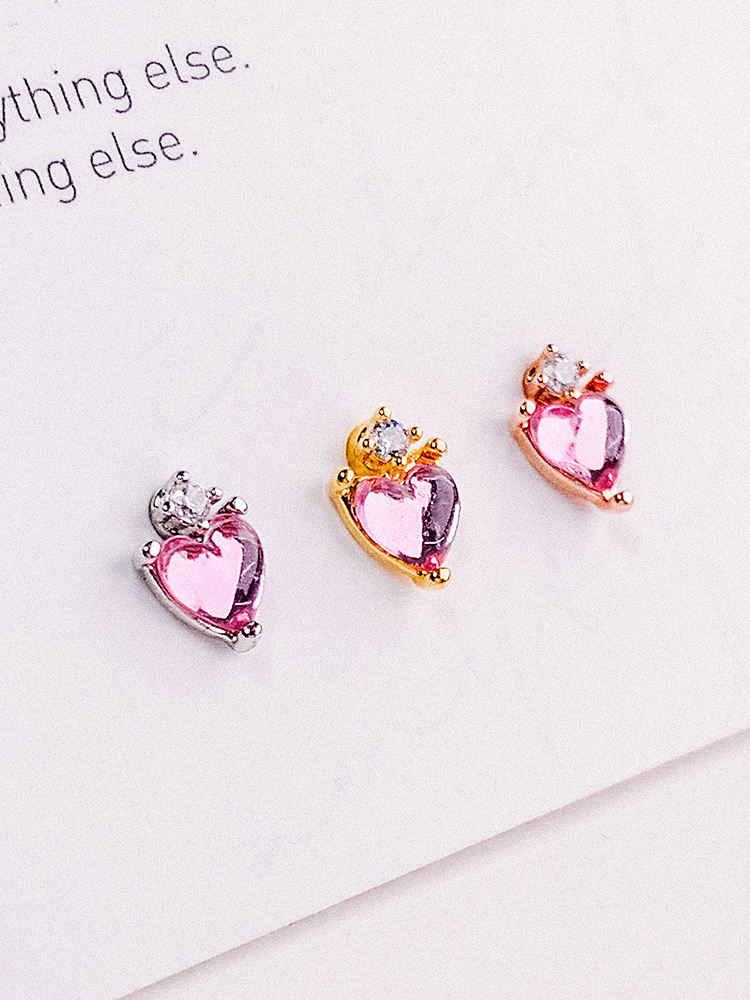 Strawberry Milk Heart Piercing/Earring